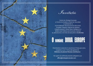 invitatie O Romanie doua Europe