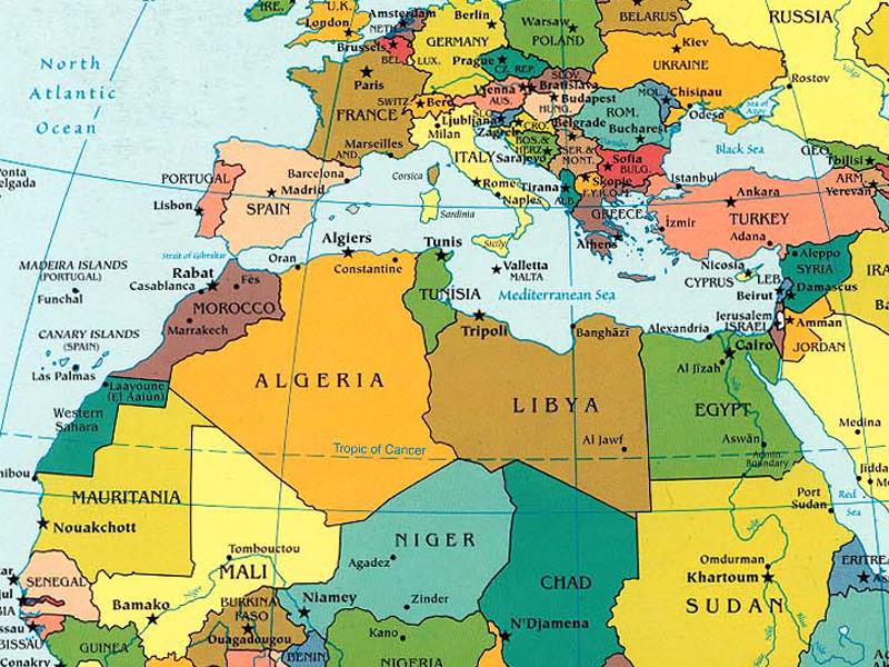 Harta Africa de Nord